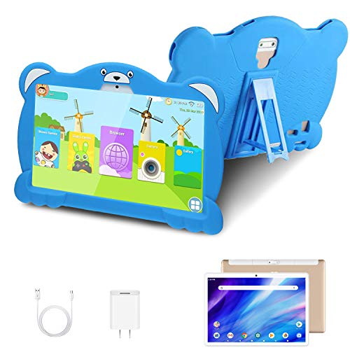 4G Tablet 10.1 Pulgadas Android 10.0 Quad Core Google GMS, DUODUOGO G11 32GB ROM/128GB Escalables 3GB RAM Tablet PC Batería 8000mAh Double SIM/Cámara WiFi Type-C (Azul)