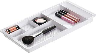 mDesign rangement maquillage – boîte à maquillage extensible avec compartiments pour le tiroir – rangement make up en plas...