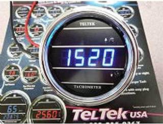 Teltek USA Tachometer for Cars and Trucks for Kenworth 2005 or Previous - Bezel: Chrome - LED Color: Blue