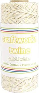 Gold And White Twine String 100m One Size