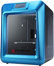 MakerPi 3D Printer K5 Plus Fully Enclosed Design with WiFi Touch Screen Smart Leveling with Printable 3D Models High Precision Printing Large Built Volume 7.9''×7.9''×11.8'', Black/Blue