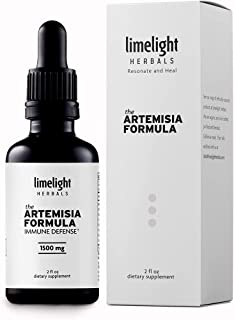 The Artemisia Formula: Purified Artemisinin, Sweet Wormwood Artemisia, Cryptolepis, Bidens, Yarrow. Ultra-Bioavailability ...