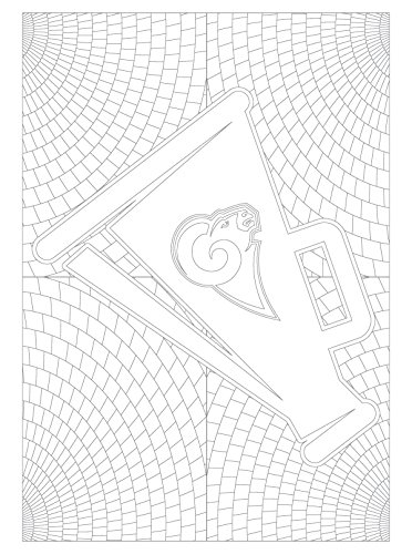 NFL Los Angeles Rams Adult Coloring Booknfl Adult Coloring Book, Blue, Gold, 96 Coloring Pages