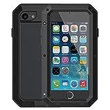 Mangix iPhone 6 Plus/6S Plus Case, Gorilla Glass Aluminum Alloy Metal Extreme Bumper Finger Scanner Cover Shell Case for Apple iPhone 6 Plus/6S Plus 5.5inch(Black)