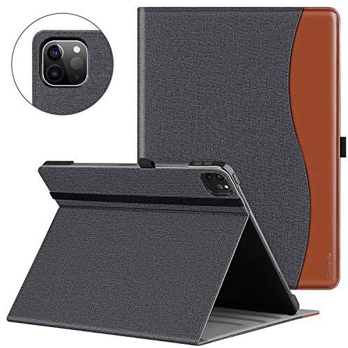 ZtotopCase Funda para iPad Pro 12.9 2020, Funda de Piel Premium con función Atril y función Atril para iPad Pro de 12.9 Pulgadas, Color Negro