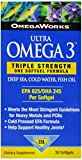 OmegaWorks Ultra Omega 3, EPA / DHA Fatty Acids, Joint Health, Enteric Coated 30 softgels, 30 servings