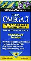 Omegaworks Ultra Omega 3 Softgels, 30-Count Bottle by Omgeworks