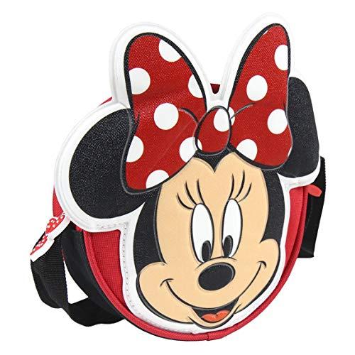 Disney Minnie Mouse Tasche für Mädchen, Umhängetasche für Kinder, Mini-Handtasche, Verstellbarer Schultergurt, Süße 3D Handtasche, Geschenk für Mädchen!