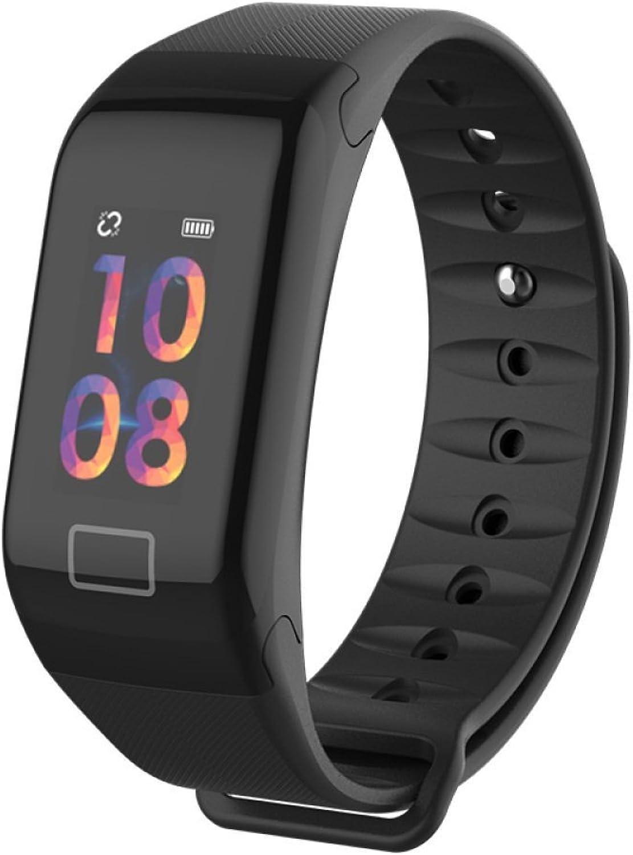 Fitness Tracker,Waterproof Smart Bracelet Heart Rate Blood Pressure Monitor blueeetooth Pedometer,Bset Gift,Black