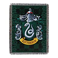"Harry Potter Slytherin Shield Woven Tapestry Throw Blanket, 48"" x 60"""