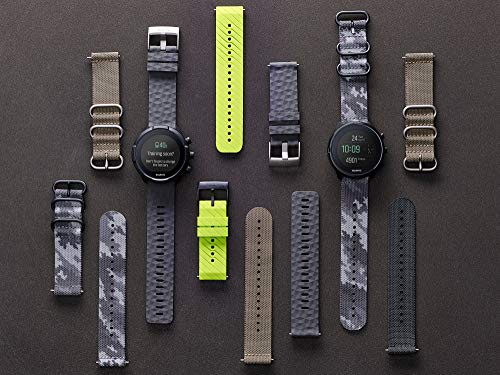 SUUNTO SS050229000 Original Watch Strap for All Spartan Sport WRH 9 Watches, Textile, Length: 24.4 cm, Width: 24 mm, Includes Pins for Attaching The Strap, Grey/Black 3