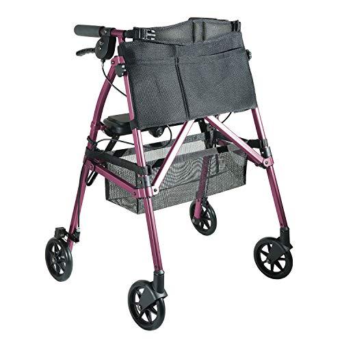 Stander EZ Fold-N-Go Rollator, Andador Ancianos Con Asiento y 4 Ruedas, Andador...