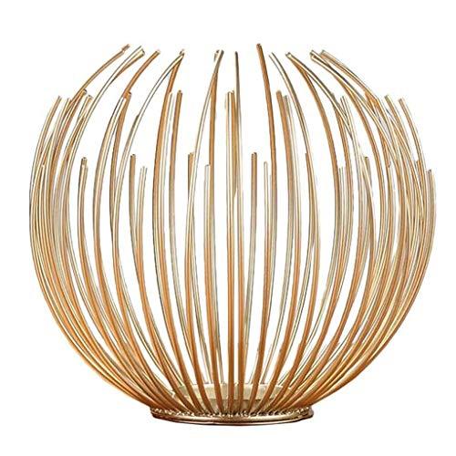 ZLBYB Europäische Art-Eisen-Geometrische Kerze Metall-Handwerk-Haus-Dekoration Brackets Kerzenständer aus Metall Willow Kerzenhalter for Hochzeit Startseite (Size : 12cm)