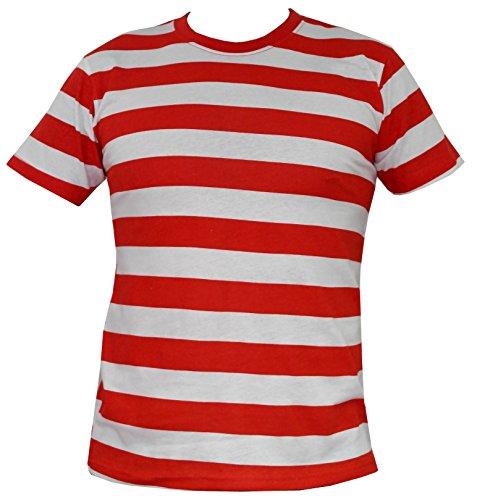 Rock Star Academy -  T-Shirt - Uomo Rosso e Bianco Large