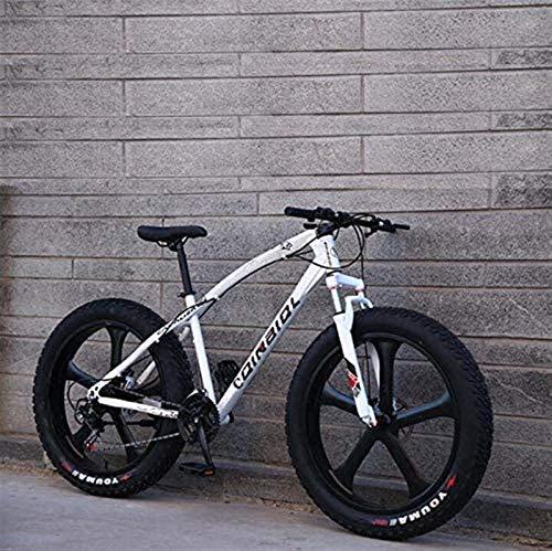 Vélo durable de haute qualité VTT Vélo for adultes, Cadre en acier au carbone à haute Cruiser Bike, double frein à disque et avant la pleine fourche à suspension Cadre en alliage avec freins à disque