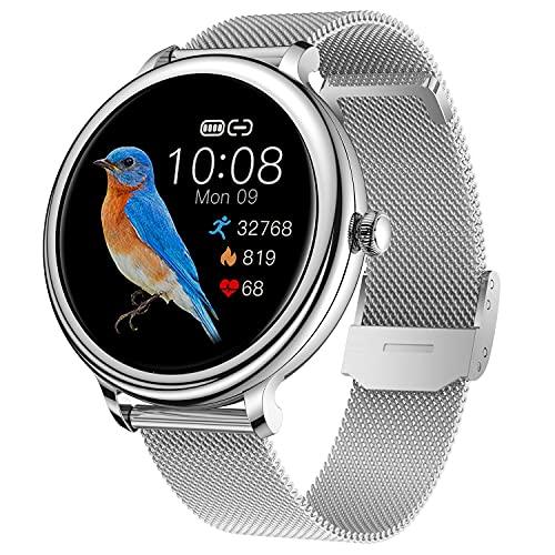 CatShin Smartwatch,Reloj Inteligente Mujer con Pulsómetro,Monitor de Sueño.Impermeable IP68 Pulsera Actividad Inteligente,Calorías,Podómetro ,Reloj Inteligente Hombre Deportivo para Android iOS