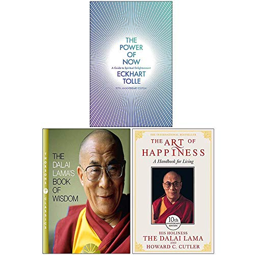 The Power of Now, The Dalai Lamas Book of Wisdom, The Art of Happiness 3 Books Collection Set