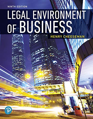 MyLab Business Law with Pearson eText -- Access Card -- for Legal Environment of Business: Online Commerce, Ethics, and Global Issues (9th Edition)
