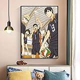 Anime Poster Volleyball Junge Leinwand Gemälde japanischer