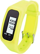 TONSEE Fitness Trackers, Digital LCD Pedometer Run Step Walking Distance Calorie Counter Watch Bracelet