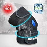 ARRIS Knee Ice Pack Wrap, Hot & Cold Therapy Knee Support Brace W/Ice Gel Pack Reusable for Knee Injuries,...