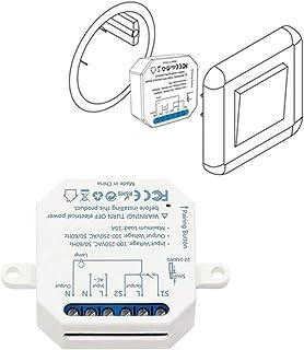 LoraTap Interruttore WiFi Alexa, Smart Timer Switch Funziona in Parallelo con Interruttore a Parete Originale, Compatibile...