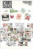 Simple Stories Bloom Aufkleber Tablet, Papier, mehrfarbig, 21x 14x 0,4cm