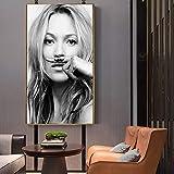 wZUN Supermodelo Simple Cartel de Moda nórdico Minimalista Dormitorio decoración de la Sala Pintura 60X90 Sin Marco