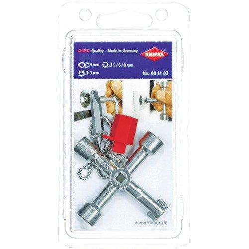 KNIPEX 00 11 03 Llave para armarios de control para armarios y...