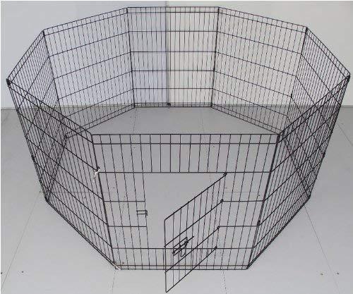 BUNNY BUSINESS Gehege für Kaninchen/Meerschweinchen/Hunde/Katzen, 8 Zaunelemente, klein, silberfarben