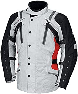 IXS Men's Nemoy GTX Jacket (Light Grey/Black/Red, XXX-Large)