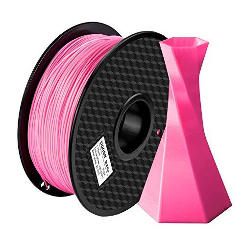 TIANSE Filamento de Seda de la Impresora 3D,1.75mm 1KG (2.2LBS),Spool Filament for 3D Printing,Precisión Dimensional +/- 0.03 mm,【Sin Enredos y Sin Bloqueo】 (Rosado)