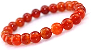 REBUY RED Carnelian Crystal Bracelet Natural Certified Bracelet For Men & Women