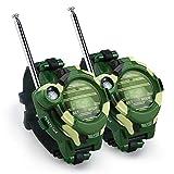 Color You Walkie Talkies Set für Kids, 2 stück Kinder Funkgeräte Two-Way Radio Mini Watch Walkie Talkies mit Taschenlampe für 3- bis 12-jährige Jungen und Mädchen