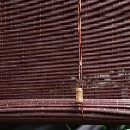Estor de bambú opaco, natural, de alta calidad, estor de bambú para interiores, práctico protector solar y privacidad, transpirable, decoración principal para la terraza exterior (105 x 150 cm)