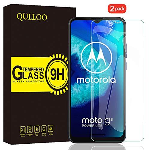 QULLOO Panzerglas für Moto G8 Power Lite, 9H Gehärtetes Schutzfolie Anti-Kratzer Glas Folie Displayschutzfolie für Motorola G8 Power Lite - [2 Stück]