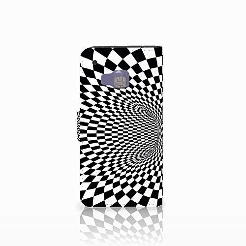 B2Ctelecom Hochwertige Handyhülle für das HTC One M9 - Magnetische Kunstleder Klapphülle zum selbst gestalten Illusion