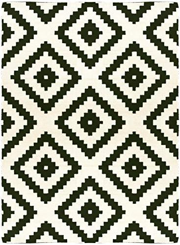 Decoweb Tapis Graphique - Noir et Blanc (160 x 220 cm)