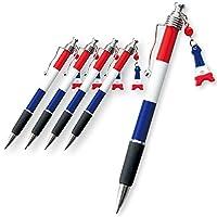 フランス 土産 フランス国旗 ボールペン5本セット (海外旅行 フランス お土産)