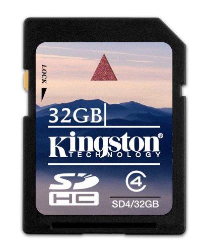 Kingston SDHC - Tarjeta de Memoria de 32 GB (Clase 4)