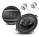 Pioneer TS-A6880F 6' x 8' 350 Watts Max Power A-Series 4-Way Car Audio Coaxial Speakers Pair with Fiber Cone Midrange / FREE ALPHASONIK EARBUDS