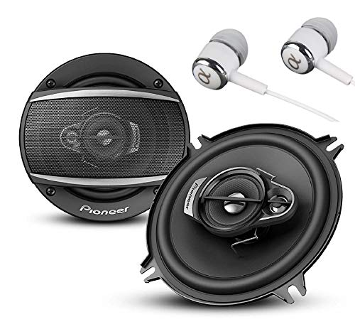 """Pioneer TS-A6880F 6"""" x 8"""" 350 Watts Max Power A-Series 4-Way Car Audio Coaxial Speakers Pair with Fiber Cone Midrange / FREE ALPHASONIK EARBUDS"""
