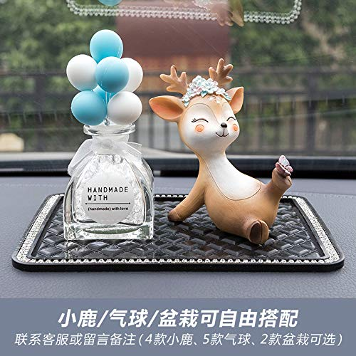 RAP All the way herten herten auto decoratie auto accessoires center console parfum stoel high-end herten persoonlijkheid decoratie levert ondeugende fawn + blauwe en witte ballonnen + anti-slip matten
