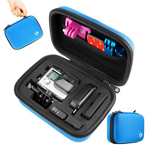 CamKix Carrying Case Compatible with Gopro Hero 4, Black, Silver, Hero+ LCD, 3+, 3, 2 - Ideal for Travel or Home Storage - Complete Protection for Your GoPro Camera