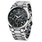BENYAR Herren Uhr Chronographen Analog Quarz wasserdichte Edelstahl Armbanduhr Herren Großes Leuchtende Business Datum Uhren
