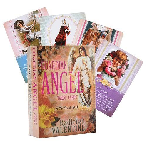 presentimer Cartes de Tarot de l'ange Gardien: Jeu de 78 Cartes et Guide