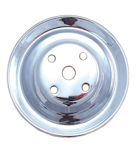 Spectre Performance 4418 Chrome Plated Crankshaft Pulley for Small Block Chevy
