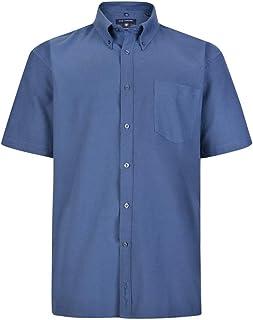 Kam Mens King Size Oxford Weave Short Sleeved Shirt (663)