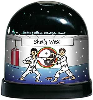 PrintedPerfection.com Personalized NTT Cartoon Caricature Snow Globe Gift: Martial Arts Female