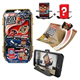 Tony Hawk Box Boarders Action Pack - Ben Raybourn and Mystery Tony Hawk Figure - Includes 2 Skaters, 4 Trick Ramps and 1 Camera Holder - Skate, Shoot, Share! - Ages 4+